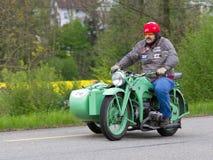 Motocyclette Zuendapp KS 600 de sidecar de cru de 194 Images stock