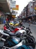 Motocyclettes pour le loyer, Thaïlande. Images libres de droits