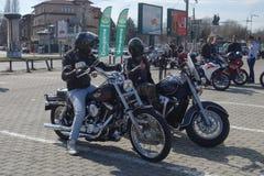 Motocyclistes se réunissant à Bucarest Images stock