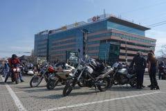 Motocyclistes se réunissant à Bucarest Photographie stock libre de droits
