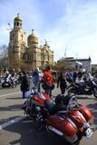 Motocyclistes se réunissant, Varna Bulgarie Image libre de droits