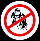 motocykl żadny znak Obrazy Royalty Free