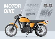 Motocykl broszurki szablon z szybkościomierzem royalty ilustracja