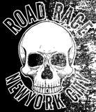 Motocykl czaszki trójnika graficzny projekt Obraz Royalty Free