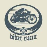 Motocykl etykietka Zdjęcia Royalty Free