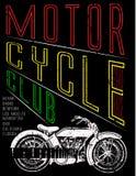 Motocykl etykietki koszulki projekt z ilustracją obyczajowa siekacz sztuki moda ilustracja wektor