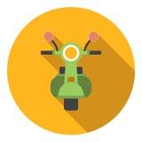 Motocykl ikona, mieszkanie styl Zdjęcie Stock