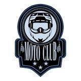 Motocykl odznaki loga emblemata wektoru świetlicowy szablon ilustracji
