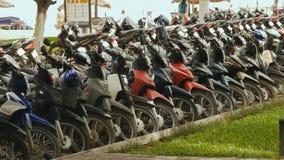 Motocykl parkuje Nha Trang Wietnam 2016 rok Fotografia Stock