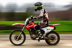 Motocykl rasy sport obrazy royalty free