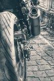 Motocykl rozdziela zako?czenie obraz royalty free