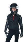 motocykl ubraniowa kobieta Zdjęcie Stock