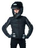motocykl ubraniowa kobieta Fotografia Stock