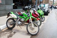 Motocykl w Moskwa, 15 07 17 Fotografia Stock