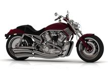 Motocykl z stalową drymbą Zdjęcia Stock