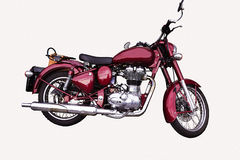 Motocykle. Old red road bike with equipment Stock Images