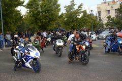 Motocykliści przy balem obraz stock