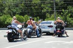 Motocykli/lów jeźdzowie w Key West, Floryda Zdjęcie Royalty Free