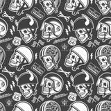 Motocykli/lów O temacie handmade rysunkowi hełmy z Zdjęcia Stock