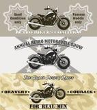 Motocykli/lów sztandary Obraz Royalty Free