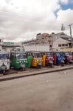 Motocykli/lów taxi parkujący Obraz Royalty Free