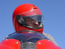 motocyklista Obraz Royalty Free