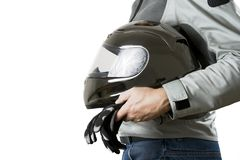 motocyklista obrazy royalty free