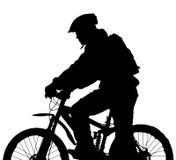 motocyklista góry Zdjęcia Royalty Free