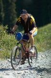 motocyklista góry road Zdjęcia Stock