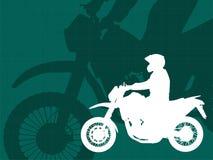 Motocyklista na abstrakcjonistycznym tle Zdjęcia Stock