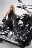 motocyklista sexy obraz stock