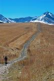 motocyklista wiejska droga Zdjęcie Stock