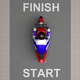 Motocyklisty 3d rendering Zdjęcia Royalty Free
