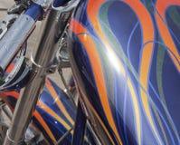 motocyklu benzynowy zbiornik Zdjęcie Stock