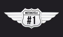 Motocyklu emblemat Obrazy Stock