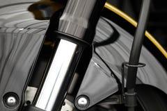 Motocyklu frontowy zawieszenie fotografia royalty free