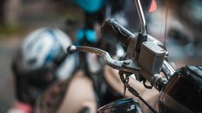 Motocyklu Handlebar Czarni Gumowi chwyty zdjęcie stock