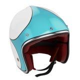 Motocyklu hełma błękitny nowożytny Fotografia Royalty Free