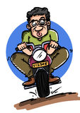 Motocyklu jeździec Obrazy Stock