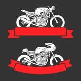 Motocyklu loga set Obrazy Stock