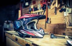 Motocyklu hełm Zdjęcia Stock