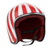 Motocyklu hełma czerwony biel Zdjęcia Royalty Free