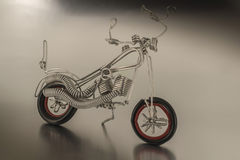 Motocyklu metal Obrazy Royalty Free