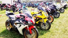 Motocyklu motocyklu wiec Obrazy Royalty Free