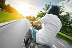 motocyklu parkway jeźdza hulajnoga obraz royalty free