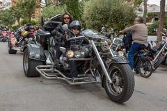 Motocyklu przedstawienie w Palamos w Hiszpania 27 05 2018 Hiszpania Zdjęcie Stock