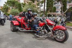 Motocyklu przedstawienie w Palamos w Hiszpania 27 05 2018 Hiszpania Zdjęcia Stock