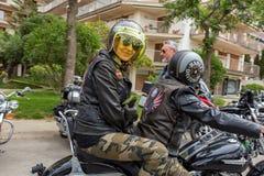 Motocyklu przedstawienie w Palamos w Hiszpania 27 05 2018 Hiszpania Obraz Stock