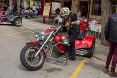 Motocyklu przedstawienie w Palamos w Hiszpania 27 05 2018 Hiszpania Obrazy Royalty Free