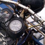 Motocyklu Retro drogomierz Zdjęcie Royalty Free